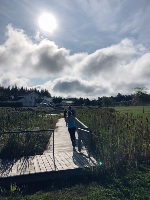Utomhusträning i Lindbacken
